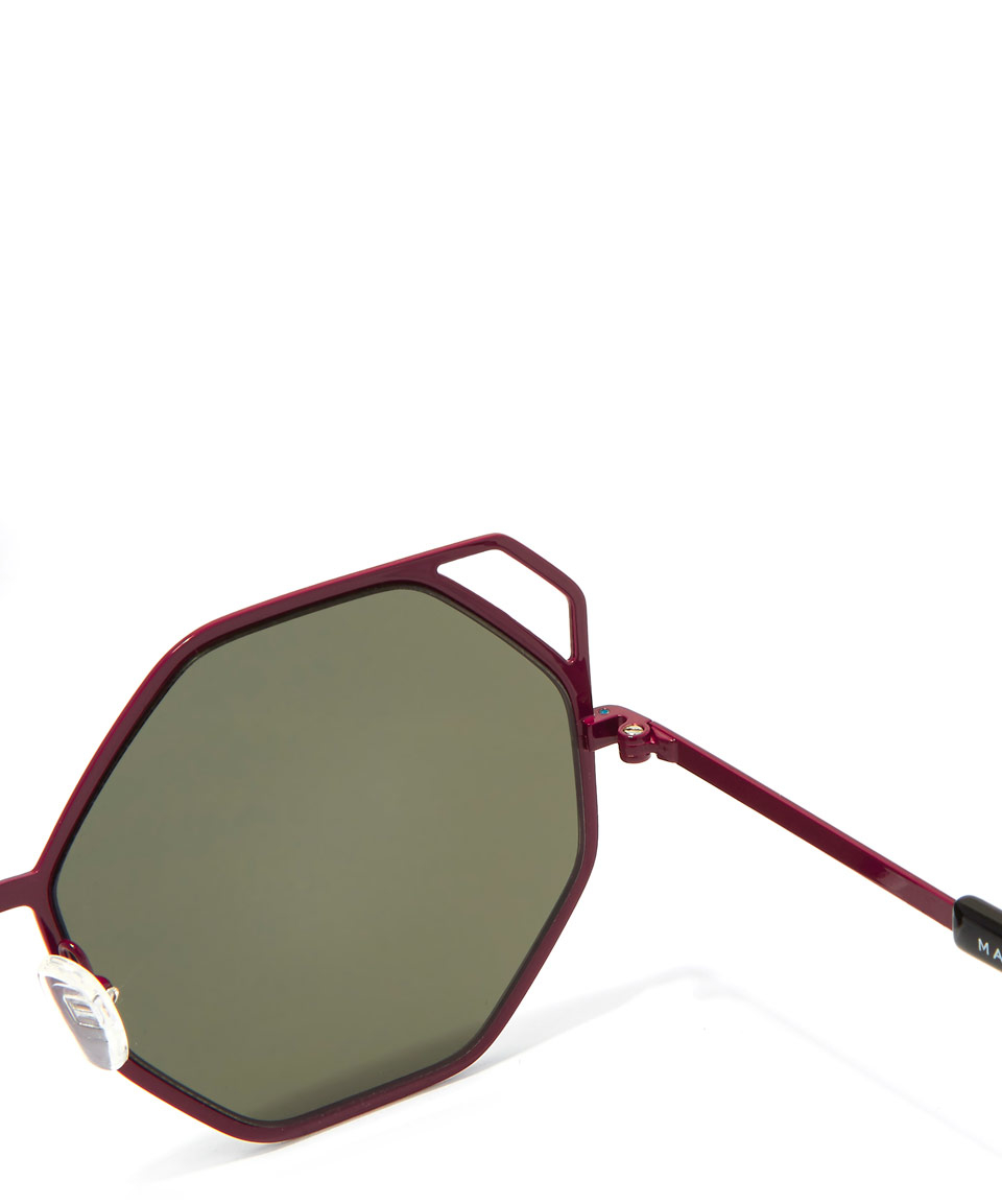 8c87bd64994 Marc by marc jacobs Burgundy Octagon Metal Frame Sunglasses in Purple