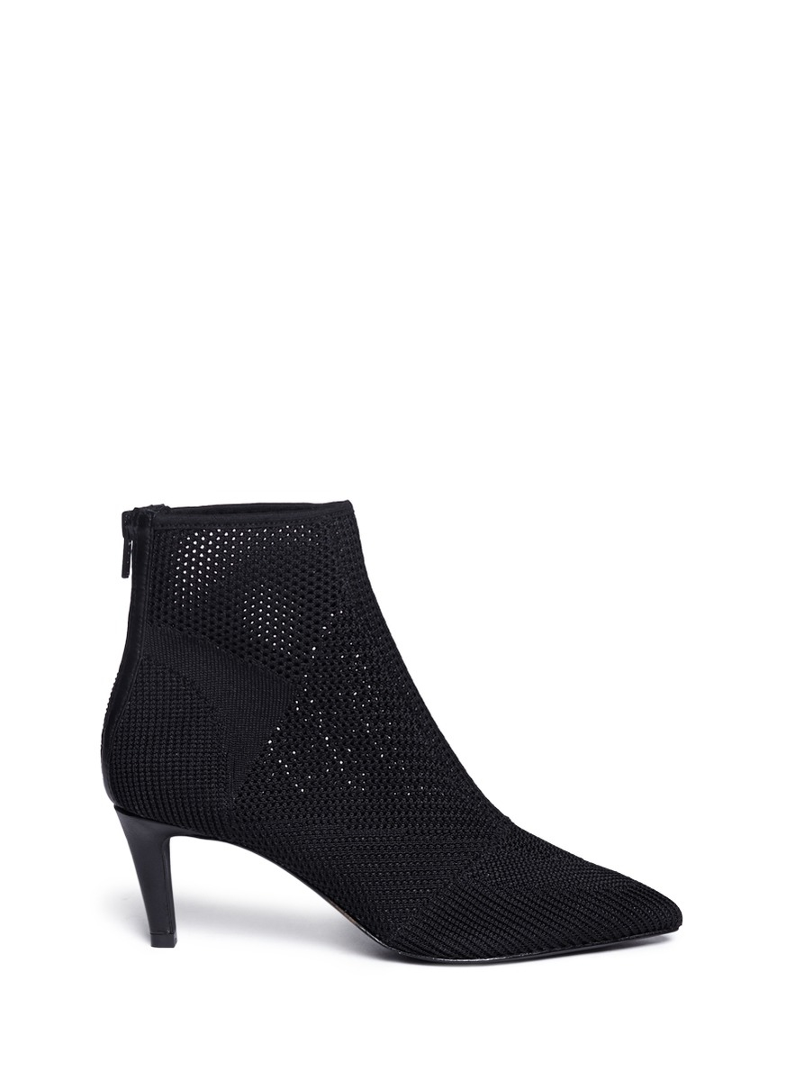 ash mix knit ankle boots in black lyst