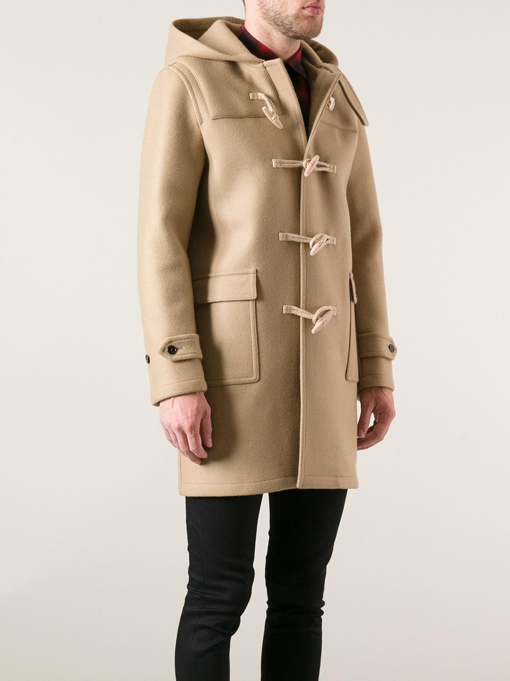 Lyst - Saint Laurent Classic Duffle Coat In Natural For Men-2940