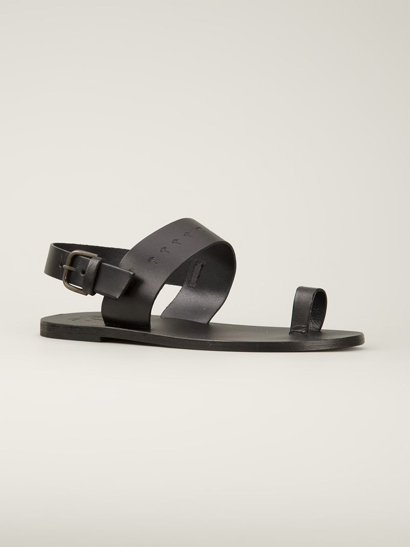 423db3119d274b Lyst - Tomas Maier Embossed Palm Tree Sandals in Black for Men