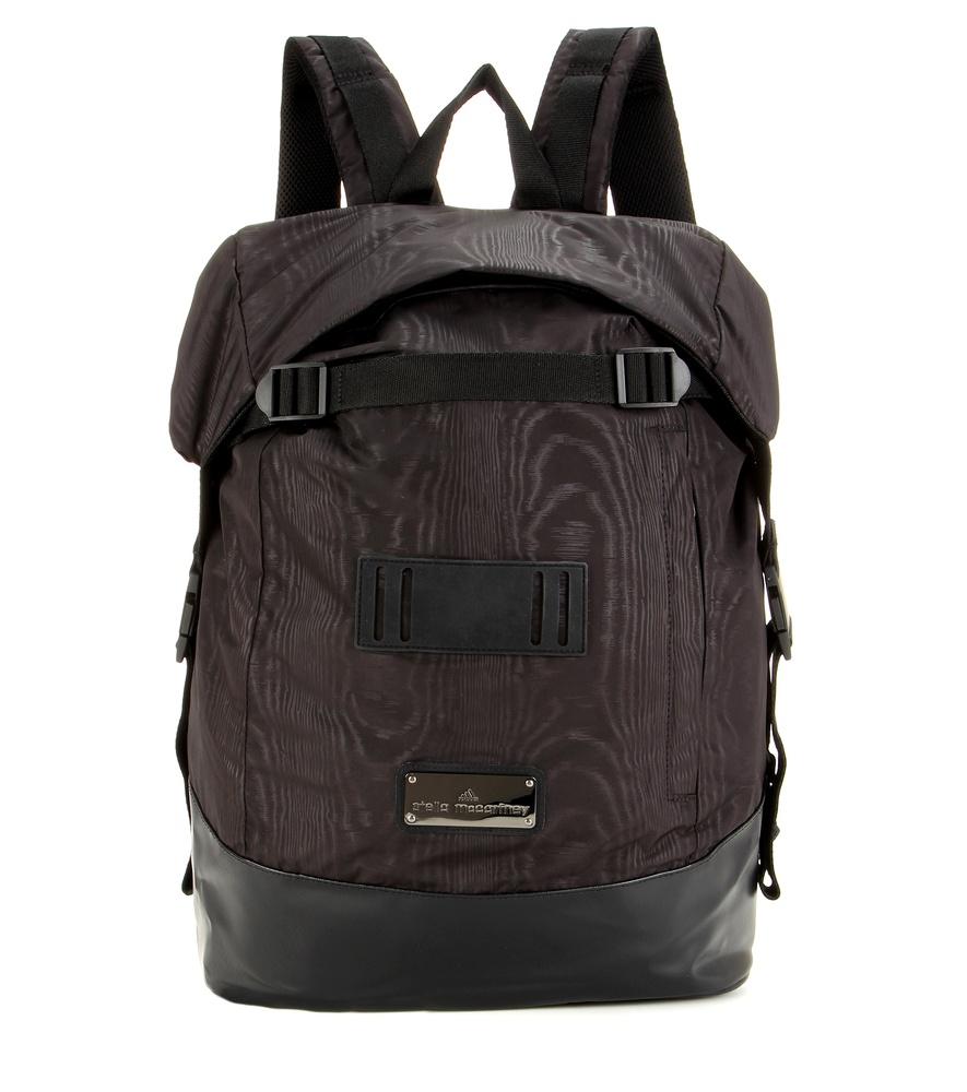 lyst adidas by stella mccartney wide backpack in black. Black Bedroom Furniture Sets. Home Design Ideas