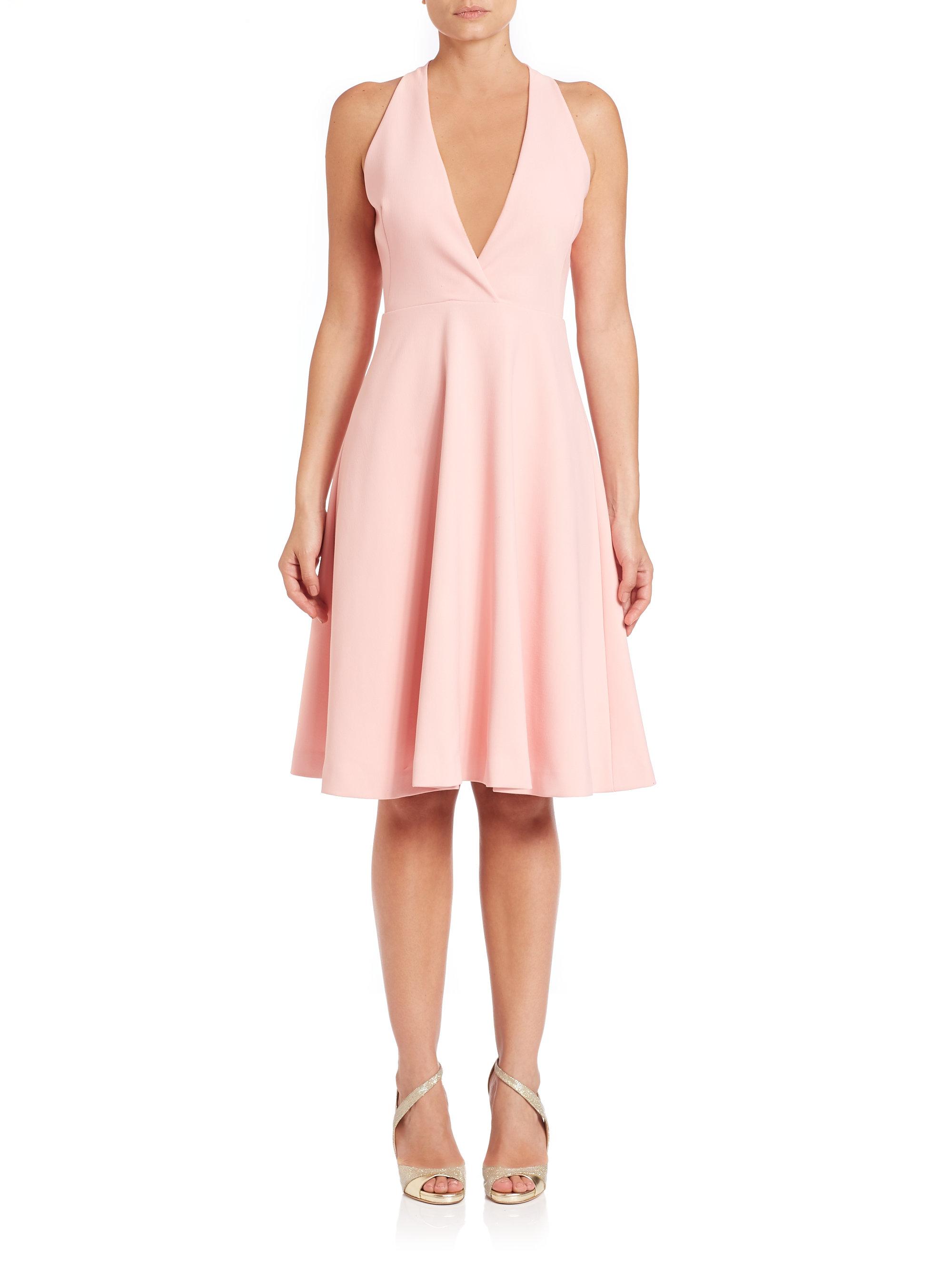 Topshop Deep V Neck Backless Zipper Hollow Out Plain Bodycon Dresses look wholesale bandage