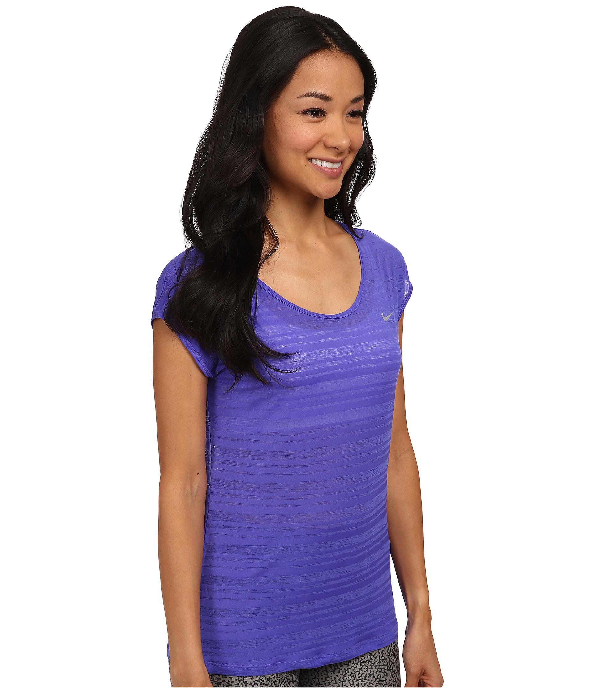 sale retailer d1cc7 2bbc5 Nike Dri Fit Cool Breeze Short Sleeve T Shirt Womens