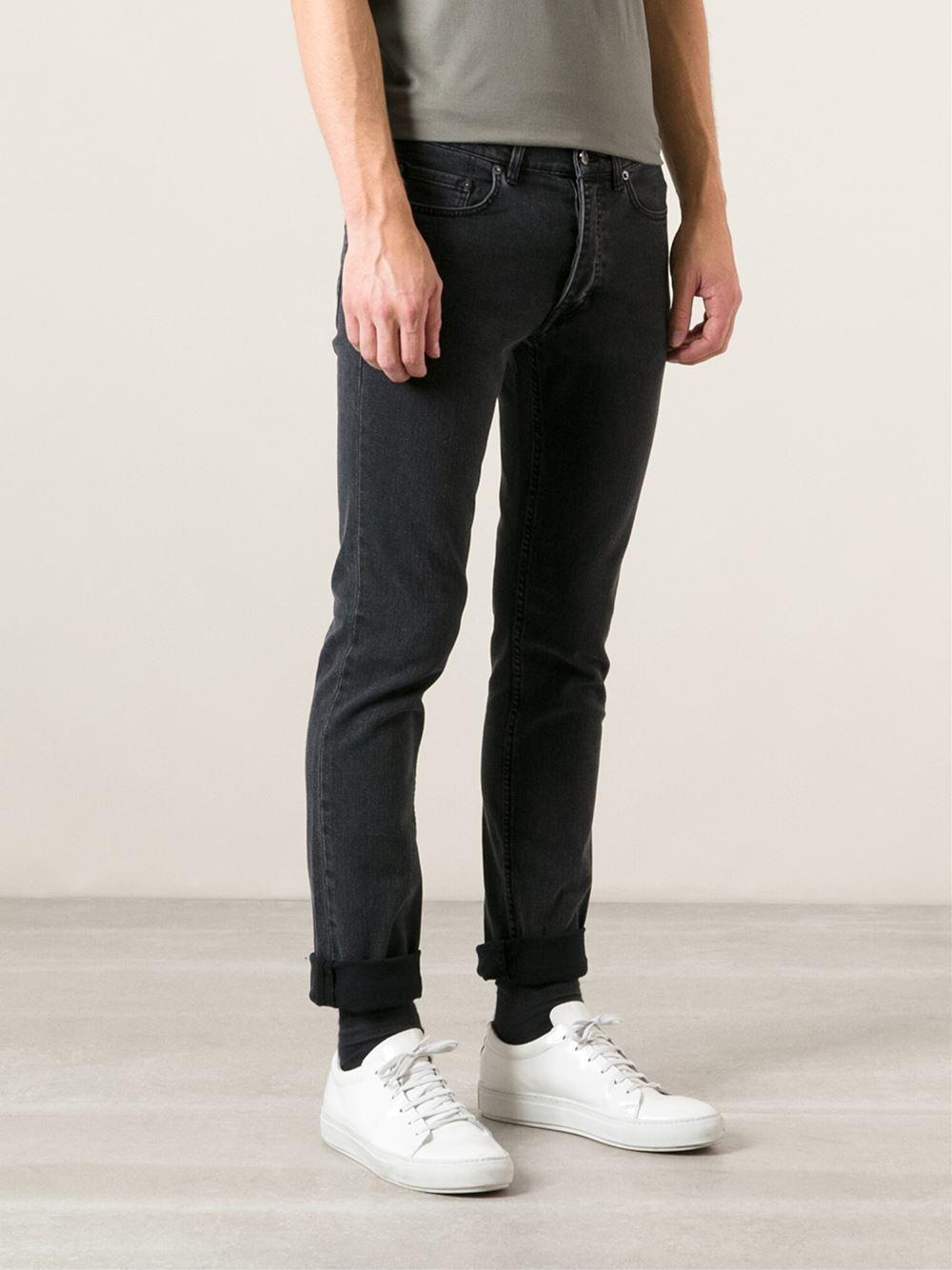 Lyst - Acne Studios Straight Leg Jeans in Black for Men 644bf21f5ec