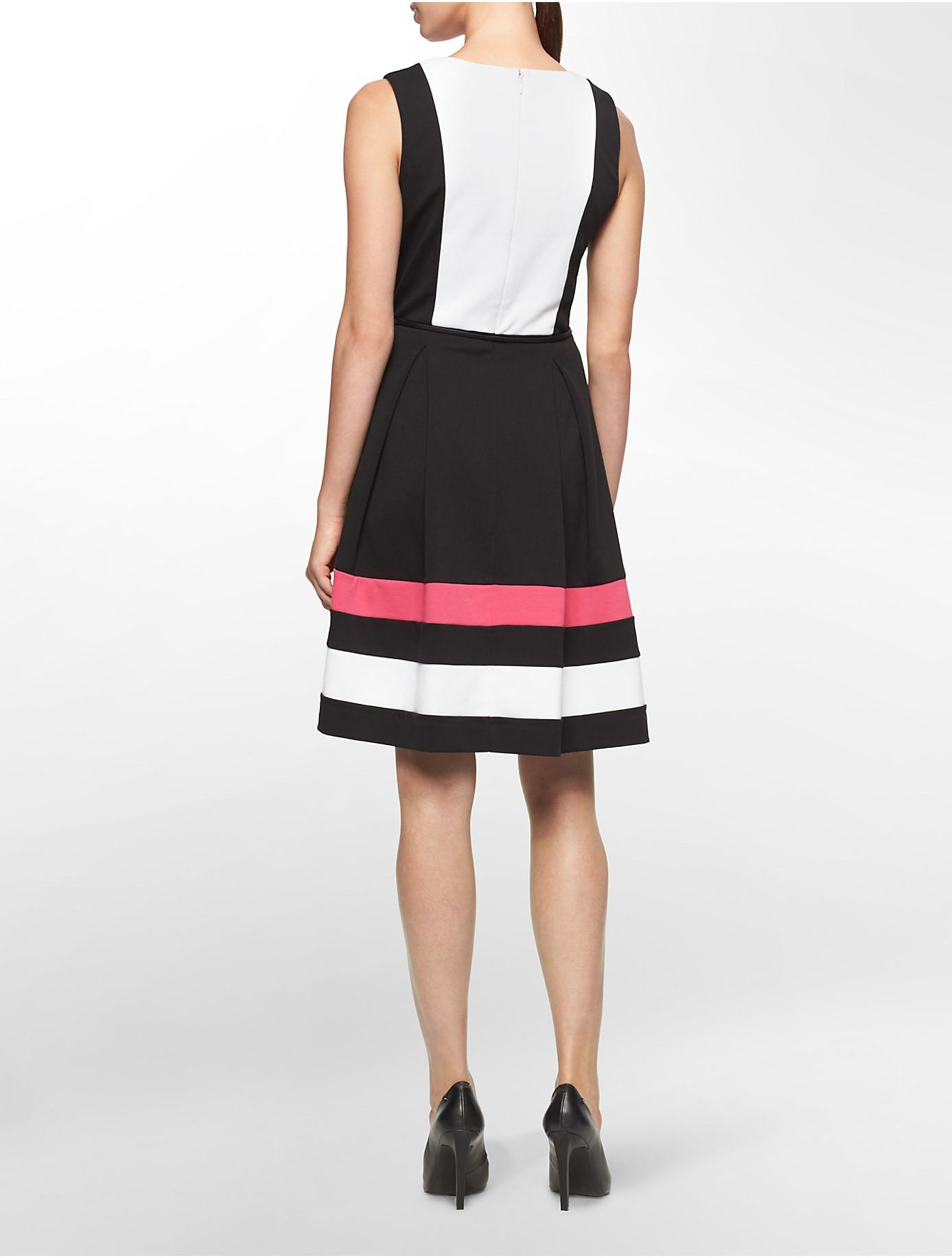 Lyst Calvin Klein White Label Colorblock Ponte Knit