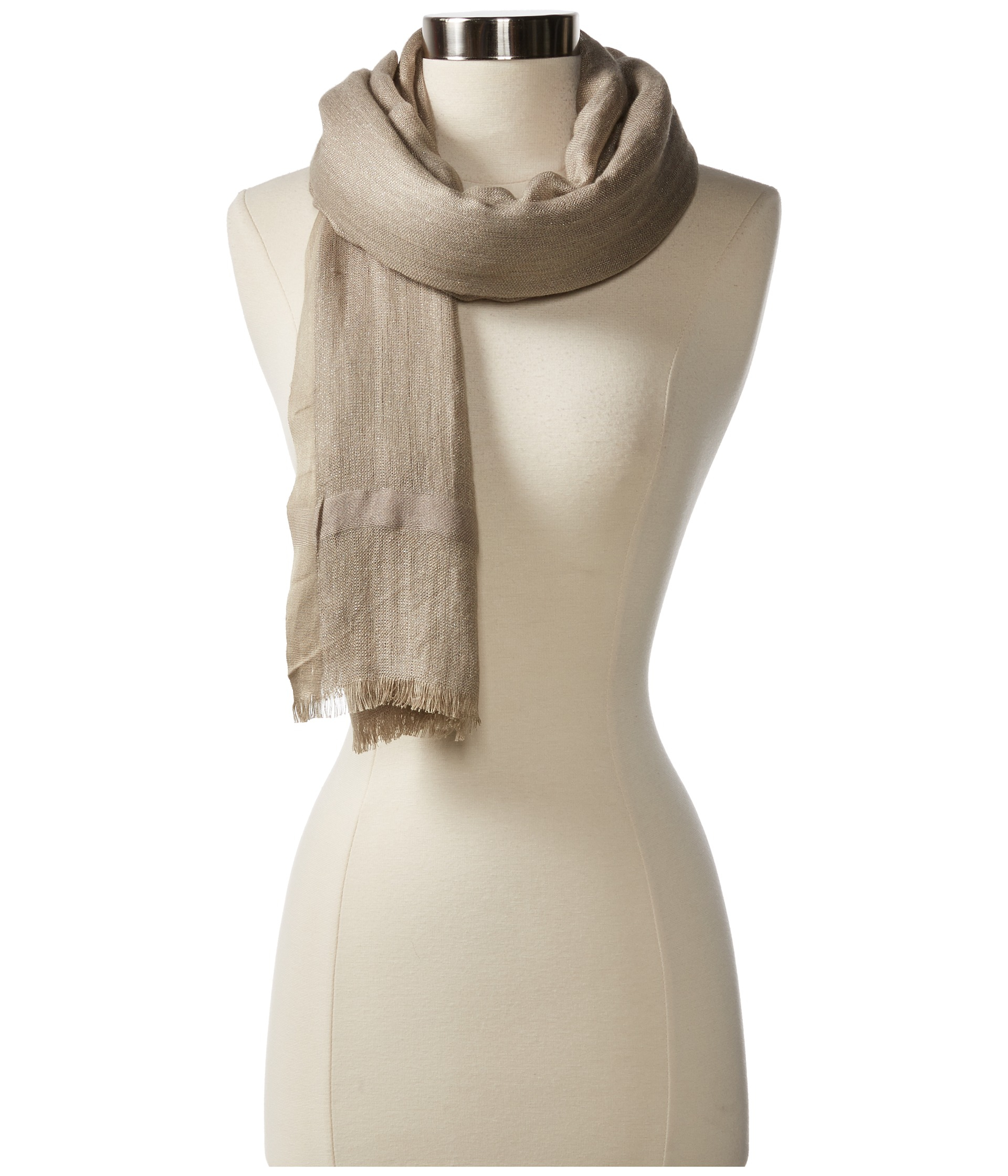 Love Quotes Scarf Love Quotes Linen Lurex Eyelash Fringe Scarf In Natural  Lyst