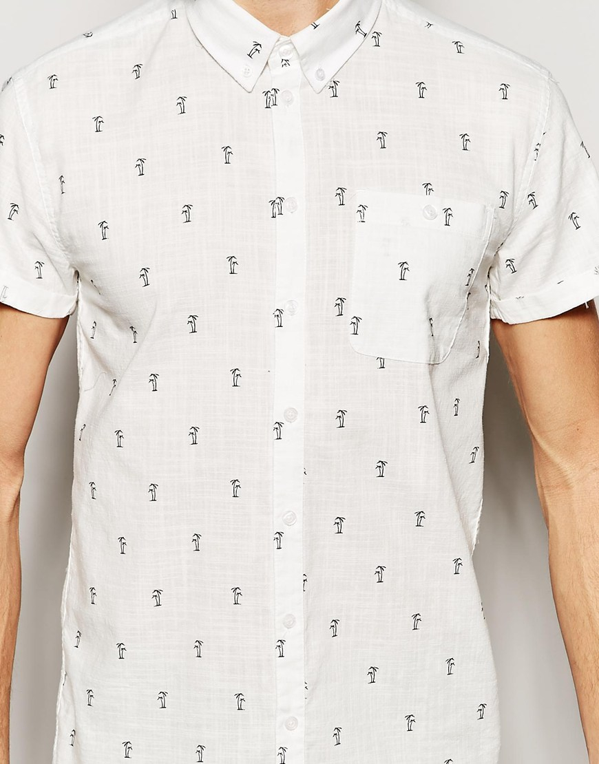 Lyst Minimum Shirt With Palm Tree Print In White For Men