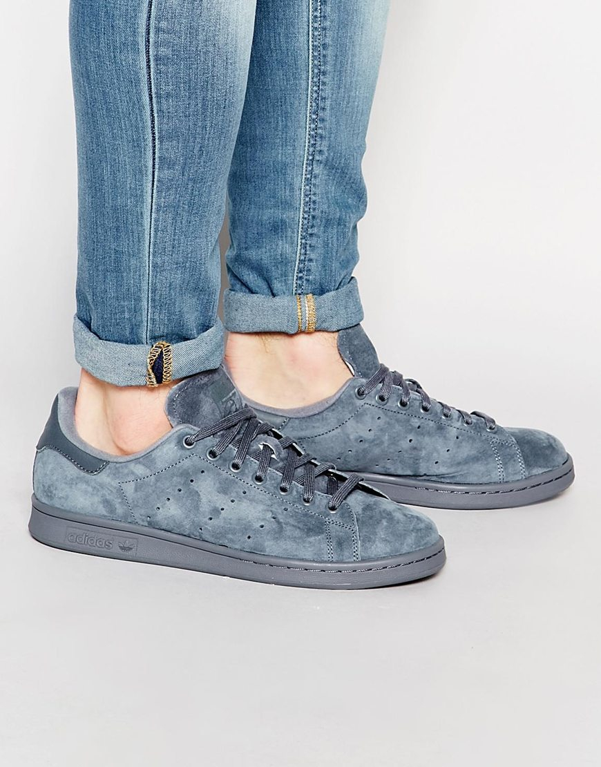 Adidas Stan Smith Blue Suede