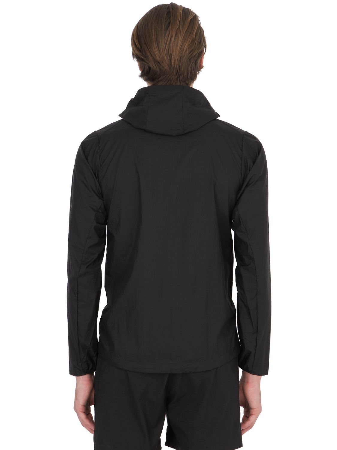 Patagonia Slim Fit Houdini Ripstop Running Jacket in Black for Men