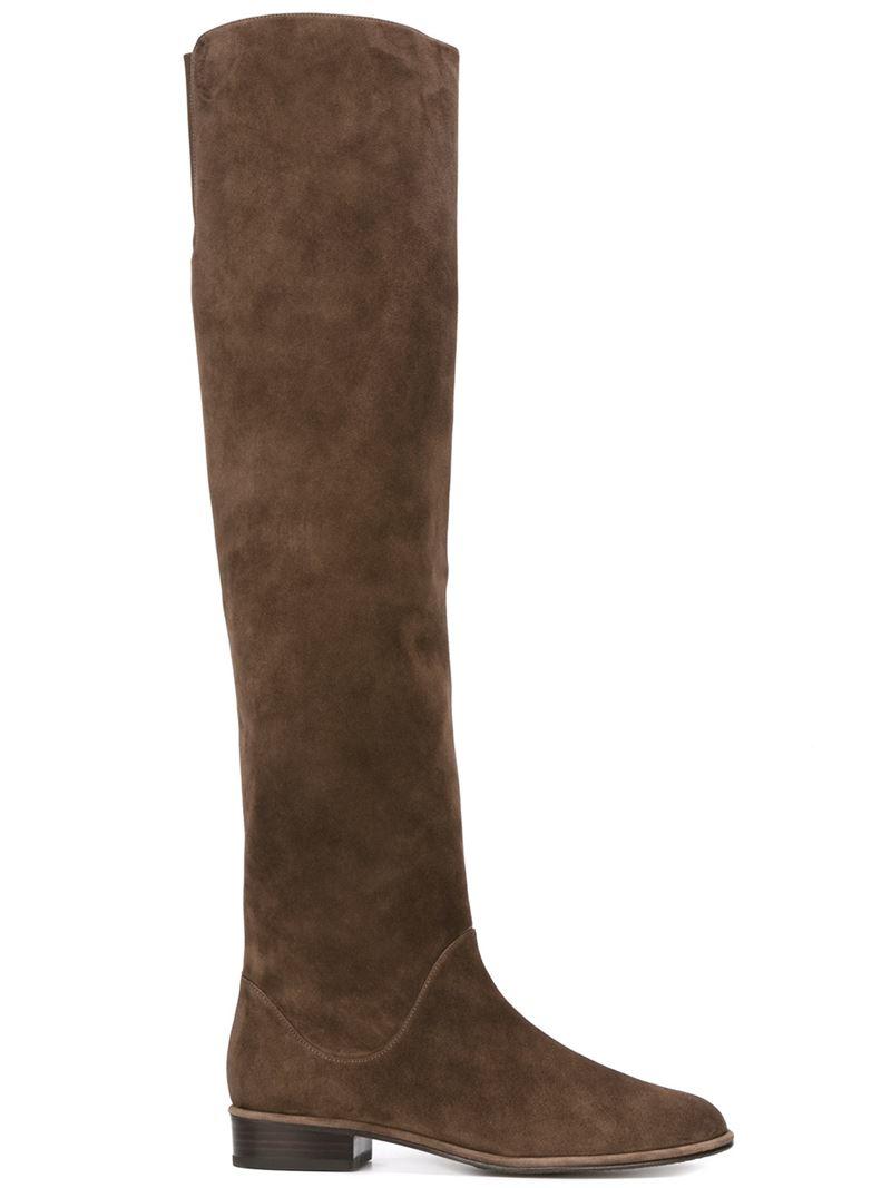 stuart weitzman 39 5050 39 boots in brown lyst. Black Bedroom Furniture Sets. Home Design Ideas
