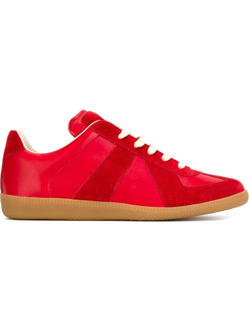 maison margiela 39 replica 39 sneakers in red lyst. Black Bedroom Furniture Sets. Home Design Ideas