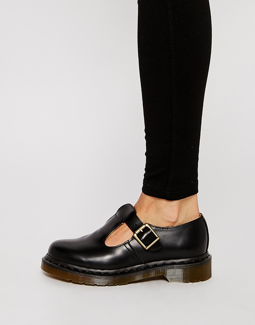 Lyst Martens Core Polley Bar Flat Shoes Black