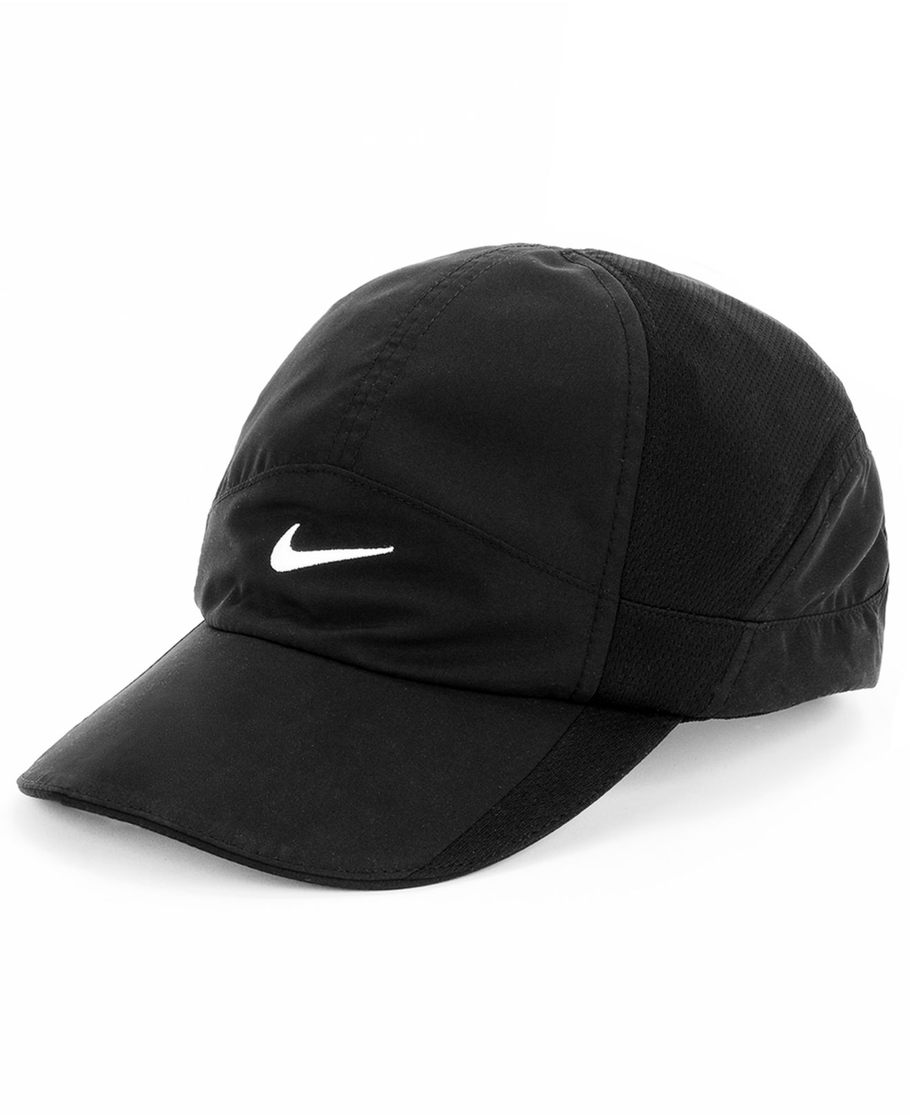 sale retailer 939d9 f28d6 Nike Featherlight 2.0 Dri-Fit Sports Cap in Black - Lyst