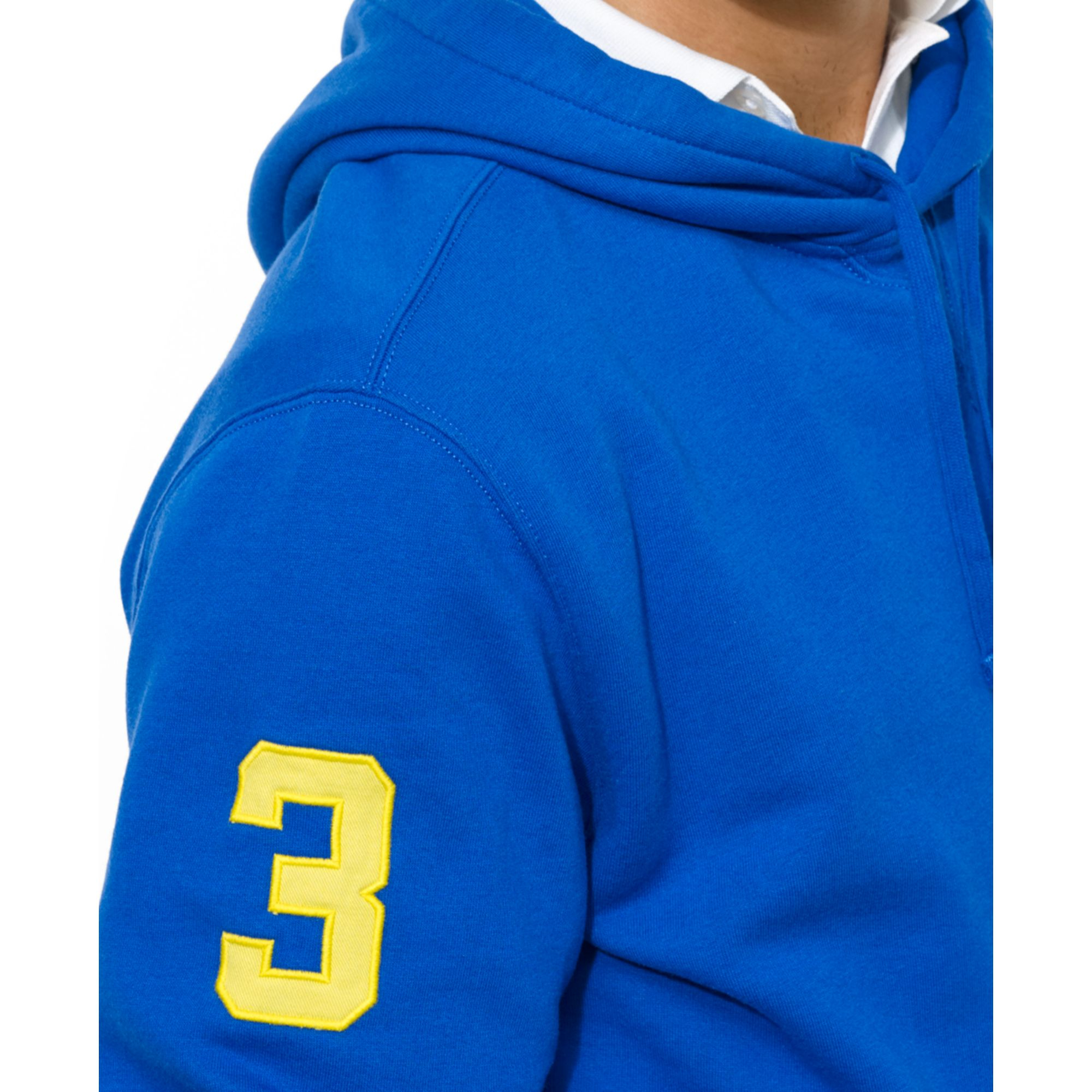 Ralph lauren Polo Big Pony Beach Fleece Pullover Hoodie in Blue for Men (Pacfic Royal