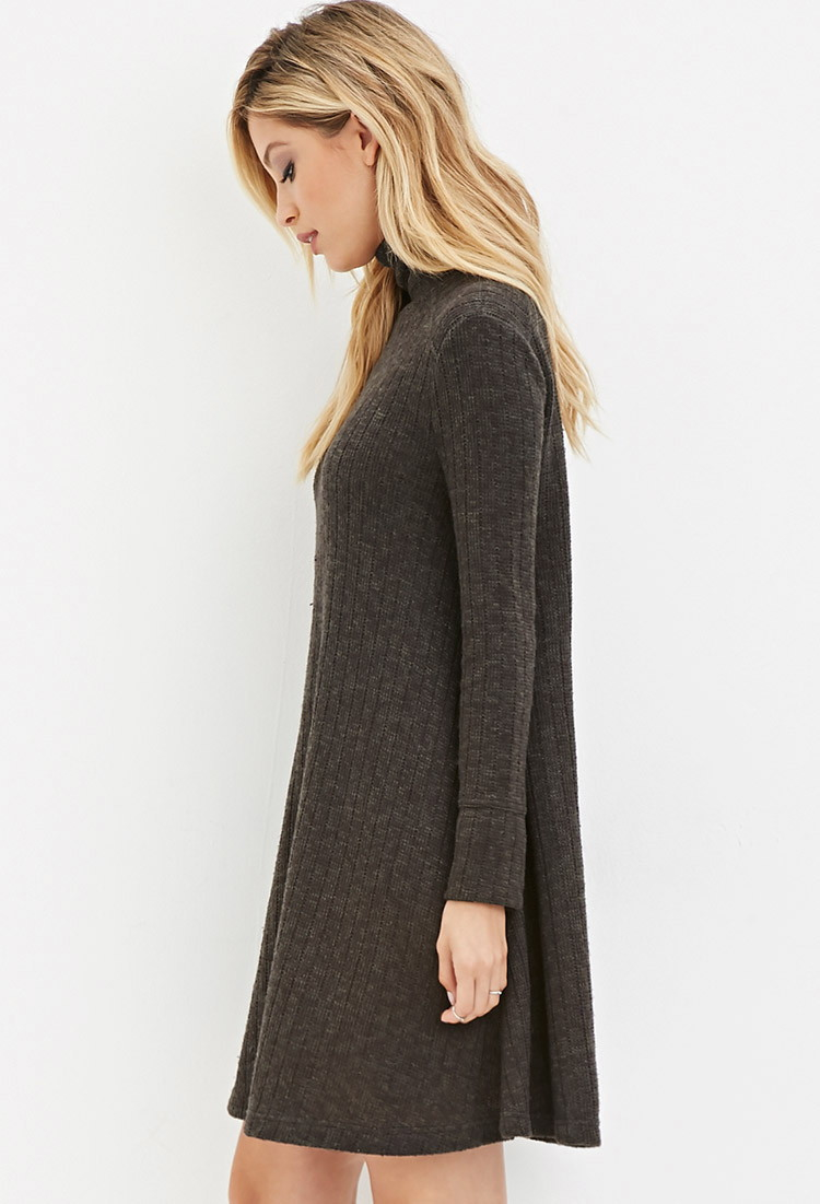 Forever 21 Marled Tunic Sweater in Green | Lyst