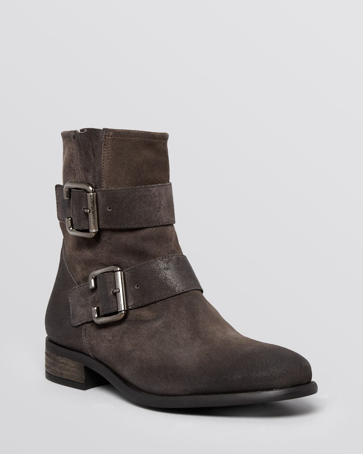 paul green boots carrie with buckle in gray lyst