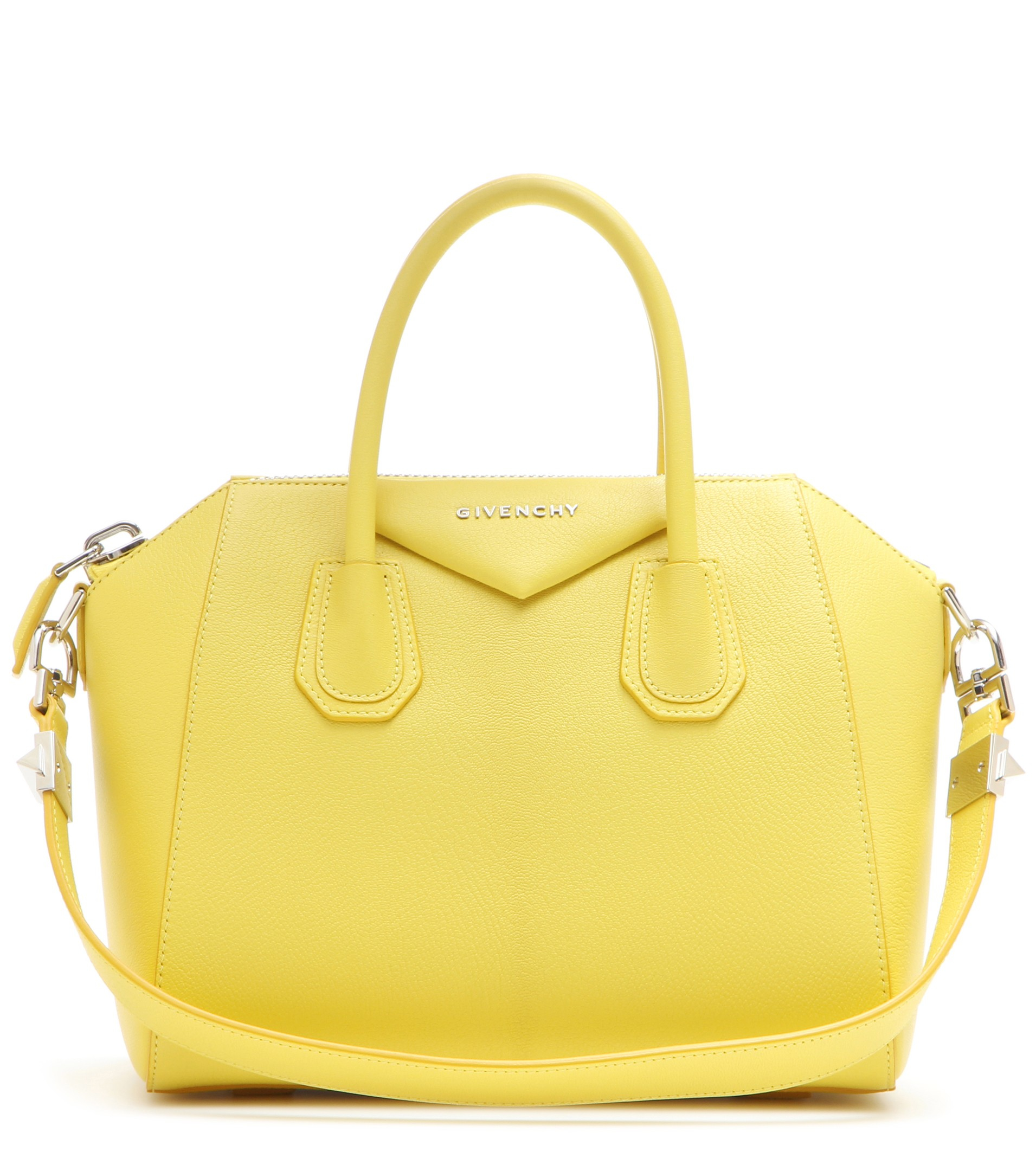 48cd3d1eb5 Lyst - Givenchy Antigona Small Leather Tote in Yellow