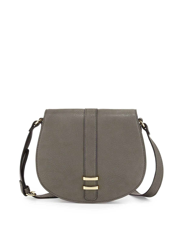 befa84debef2 Lyst - Neiman Marcus Saddle Crossbody Bag in Gray