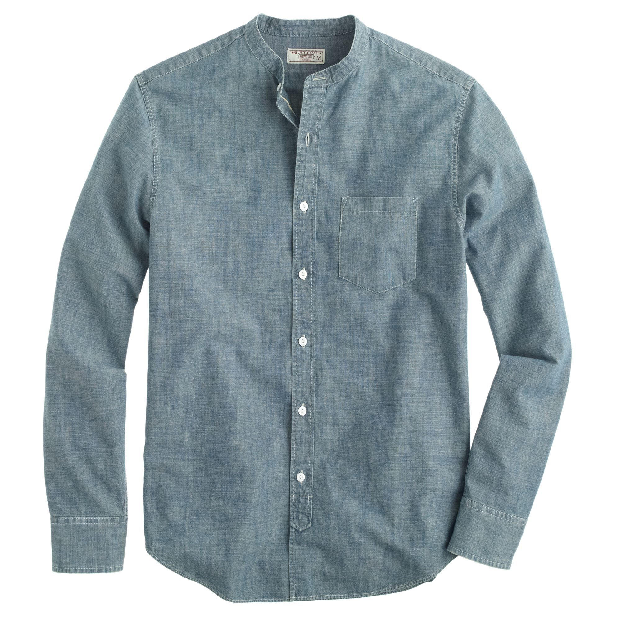 Wallace barnes band collar japanese selvedge for Chambray 7 s