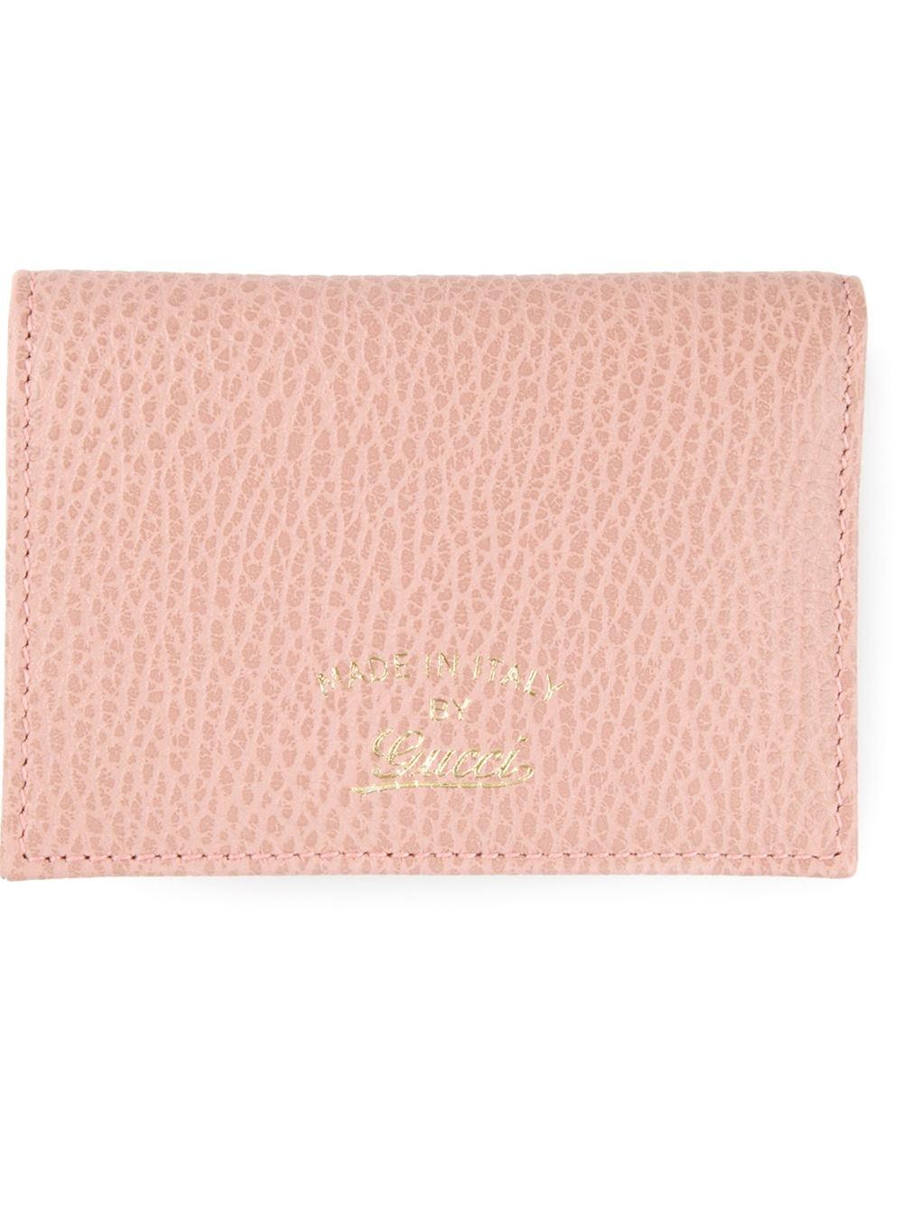 65c5c4a3ff96b Lyst - Gucci Classic Card Holder in Pink