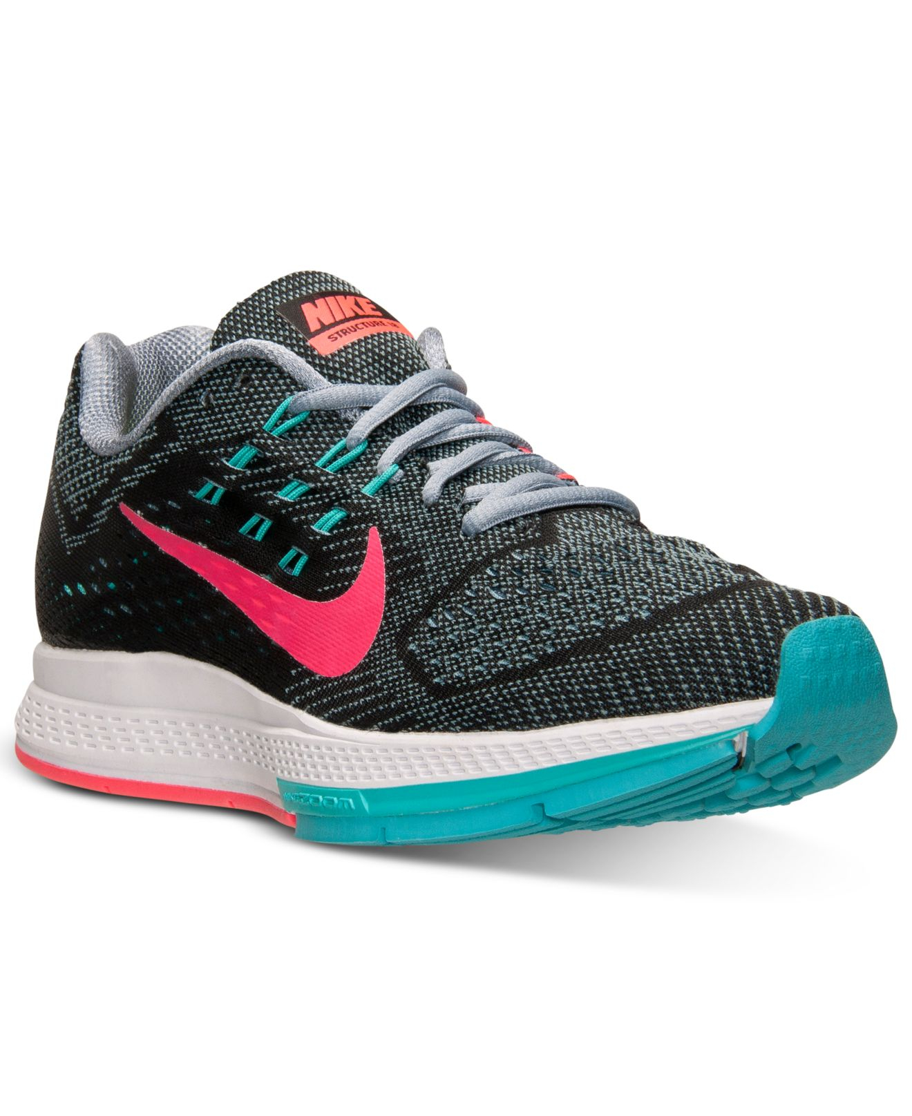 nike zoom structure 18 gul rosa - nike zoom structure 18 gul rosa