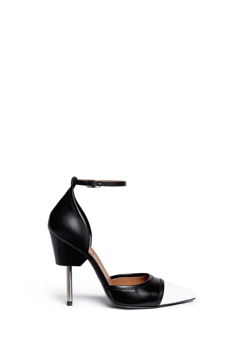 Givenchy screw heel black and white pumps