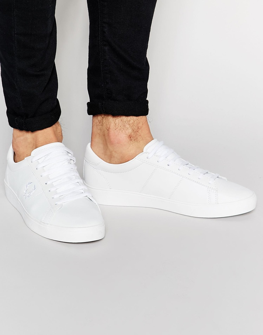Fred Perry Spencer Leather Trainers in