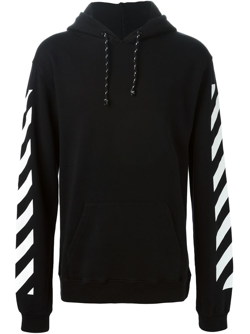 Off-white c/o virgil abloh Back Print Hoodie in Black for Men | Lyst