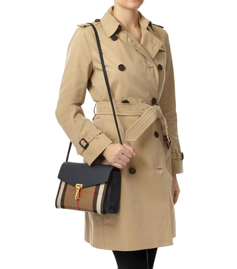 Burberry Macken House Check Panel Cross-Body Bag in Brown - Lyst 3871fc7c2e8bb