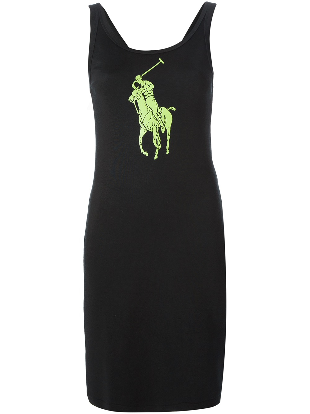 Lyst Ralph Lauren Black Label Printed Logo Dress In Black