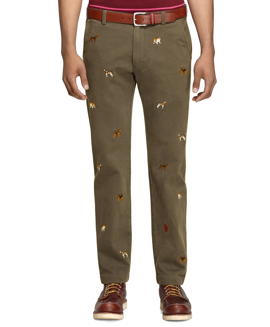 Lyst - Brooks Brothers Plainfront Pineapple Embroidered Shorts in Natural  for Men