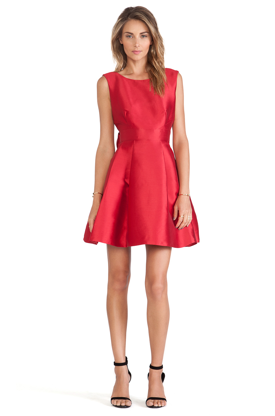 bd3f5652c9d Kate Spade Backless Bow Mini Dress in Red - Lyst