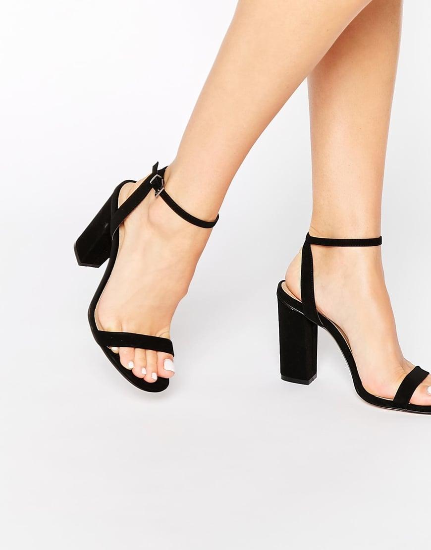 ASOS Hermione Heeled Sandals in Black