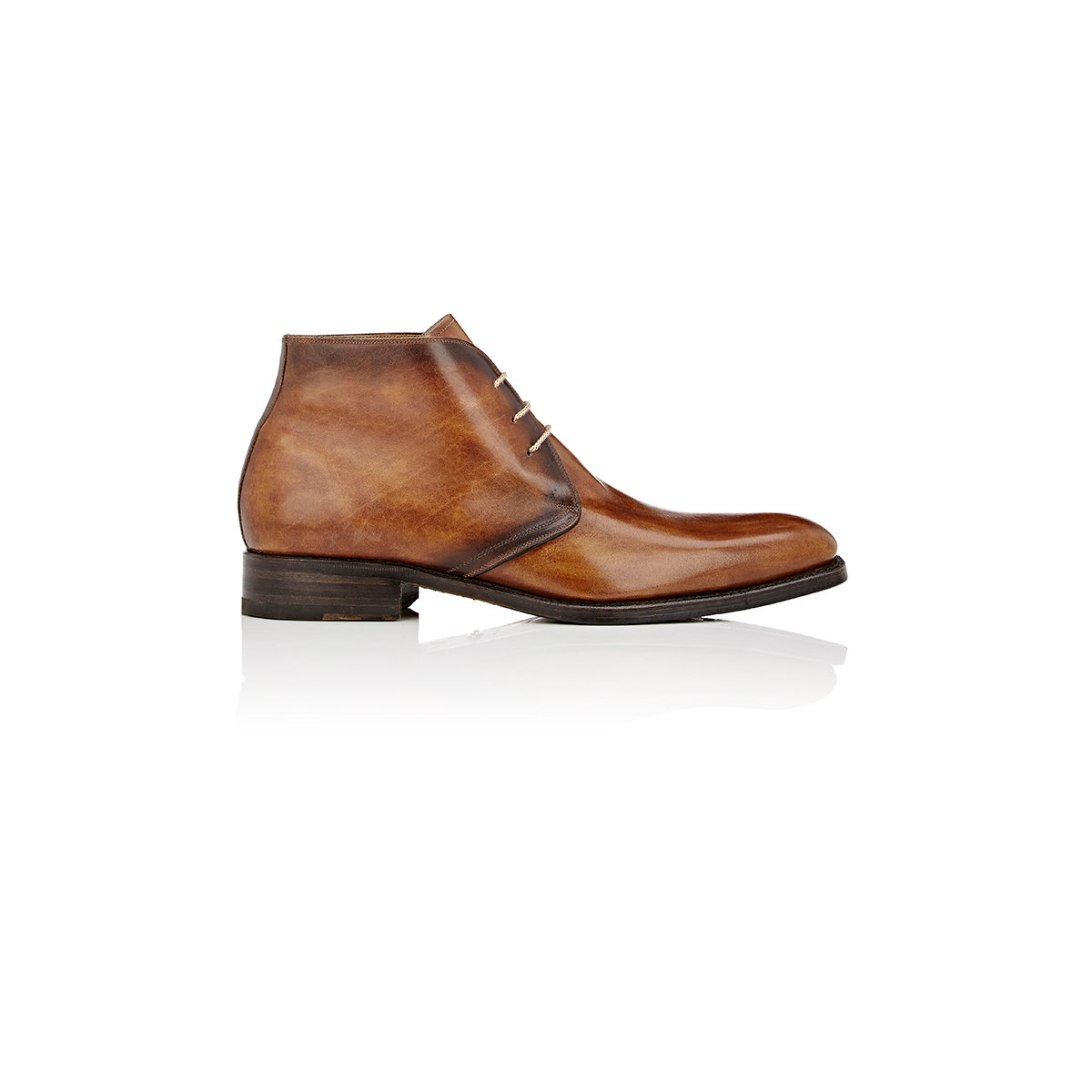 harris burnished chukka boots in brown for lyst