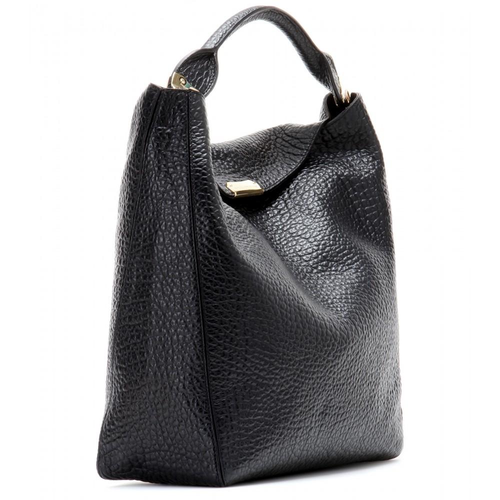 3437fb8db5c6 Lyst - Burberry Lindburn Leather Tote in Black