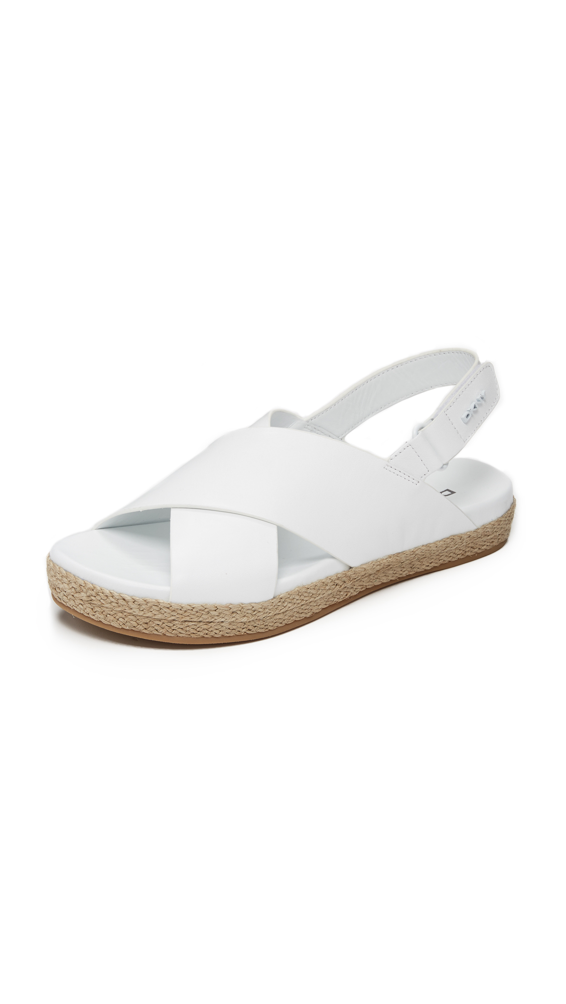 lyst dkny bethune jute sandals in white