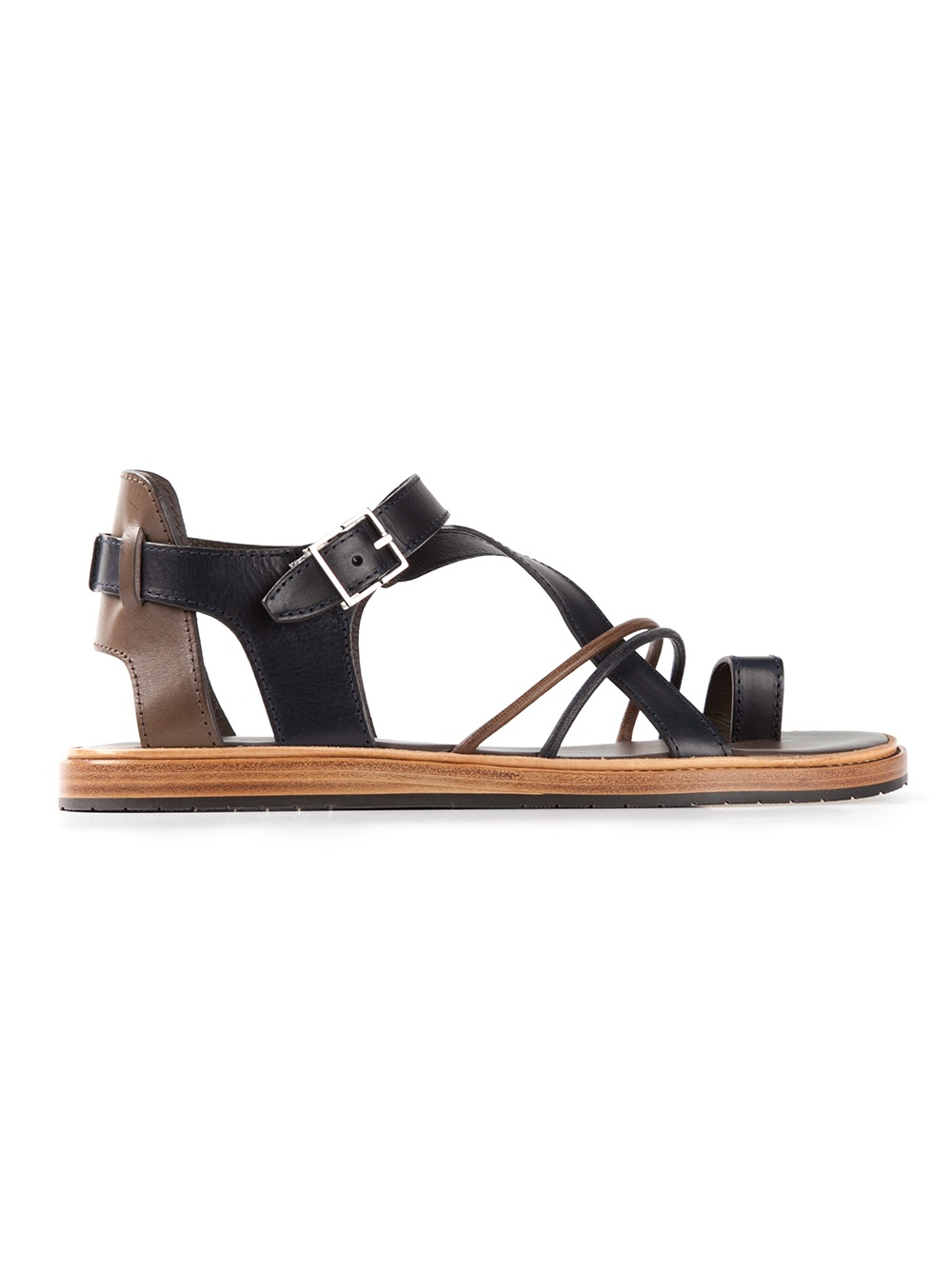 13c756ac28e37a Lyst - Dior Homme Strap Sandals in Black for Men