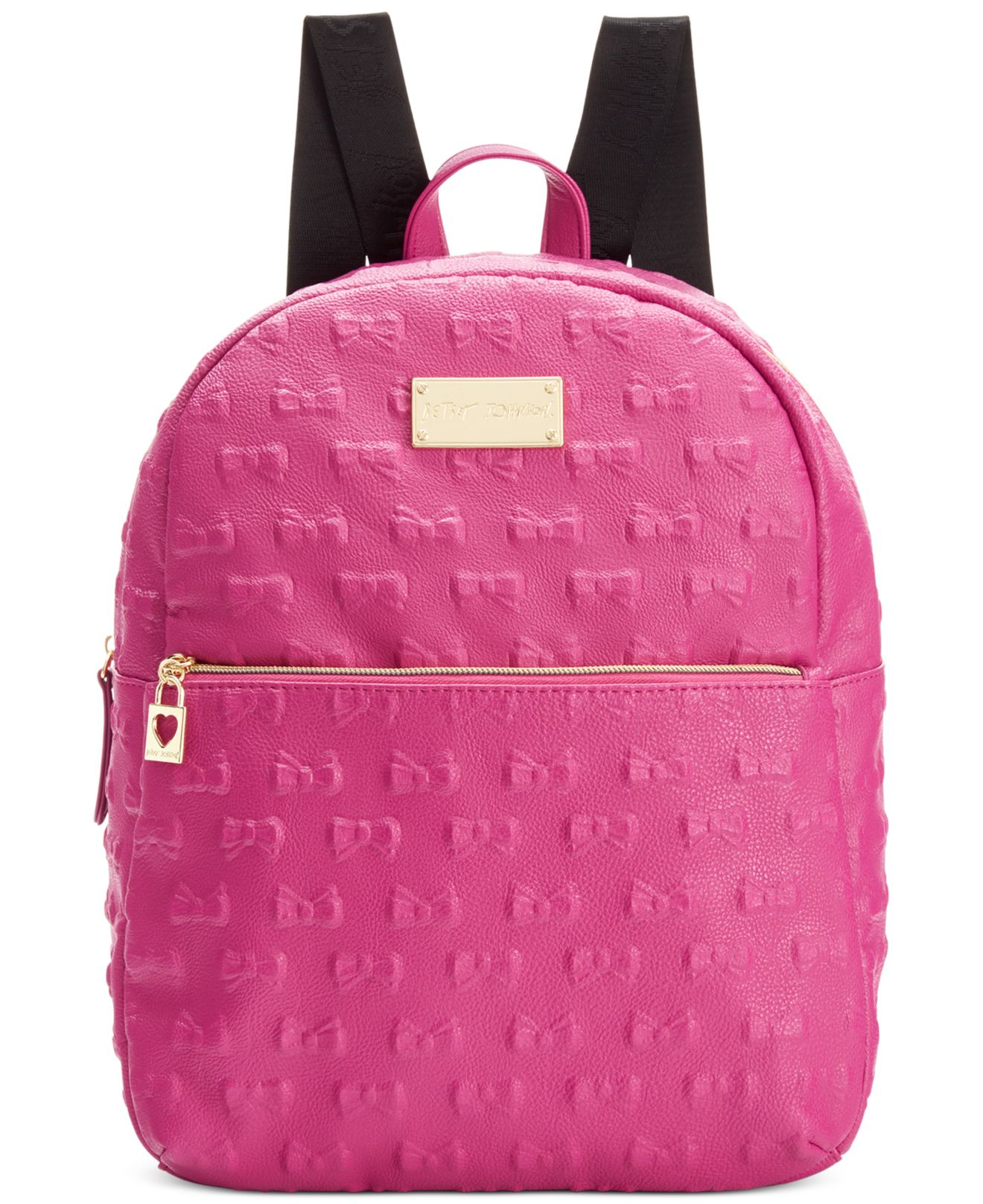 Lyst - Betsey Johnson Macy s Exclusive Debossed Bow Mini Backpack in ... 828e1acb25125