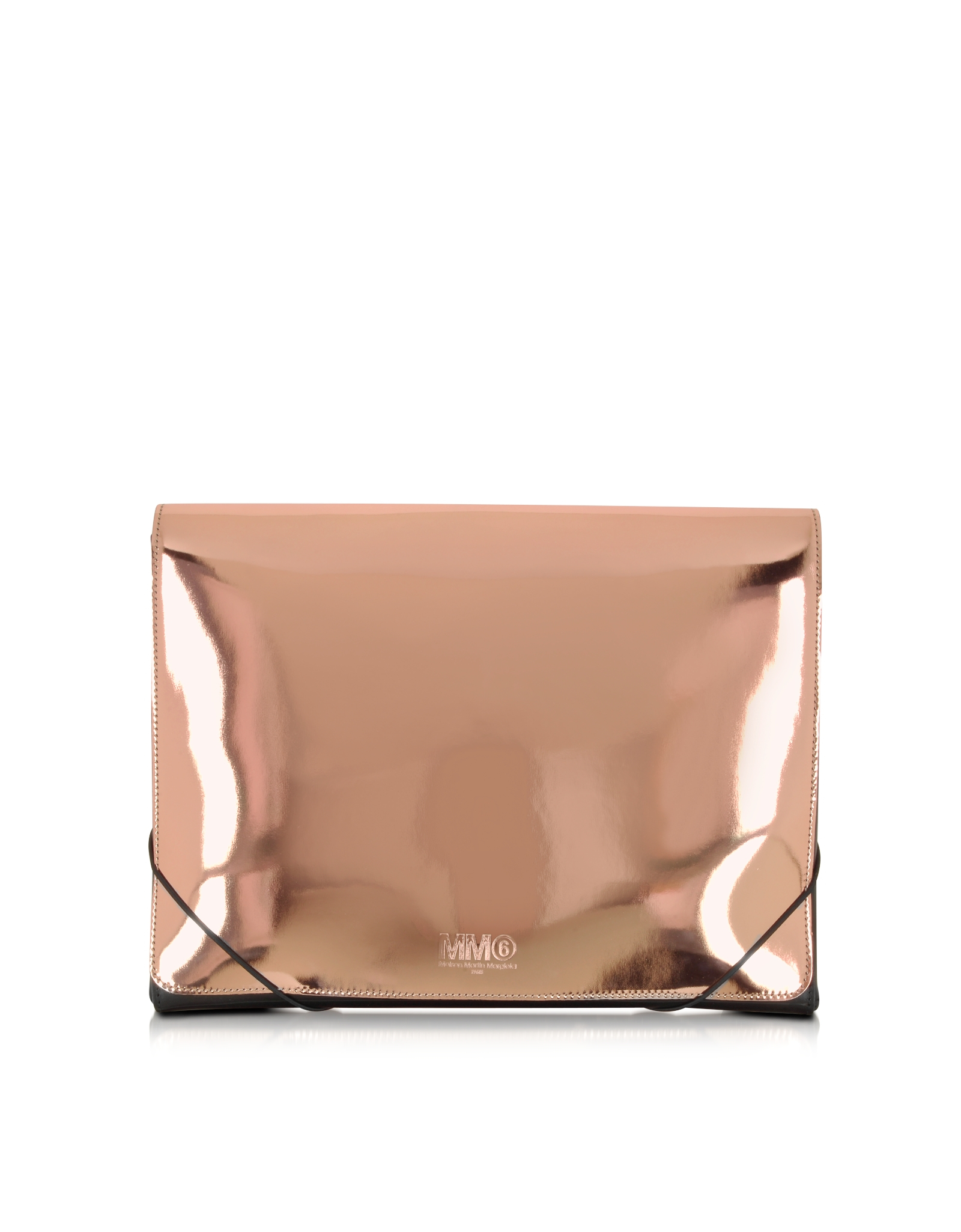 Mm6 by maison martin margiela metallic leather clutch in for Mm6 maison margiela