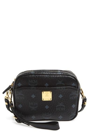 f0d492192797 MCM 'color Visetos' Crossbody Bag in Black - Lyst