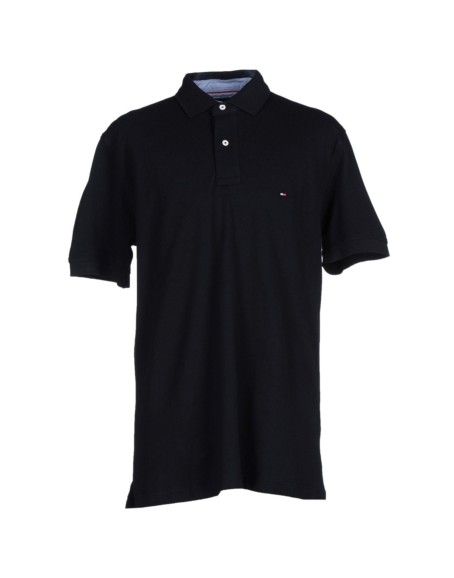tommy hilfiger polo shirt in black for men lyst. Black Bedroom Furniture Sets. Home Design Ideas