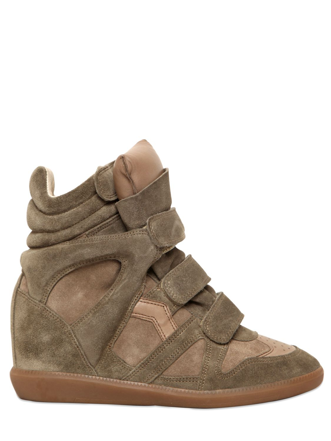 toile isabel marant bekett suede high top wedge sneakers in natural lyst. Black Bedroom Furniture Sets. Home Design Ideas