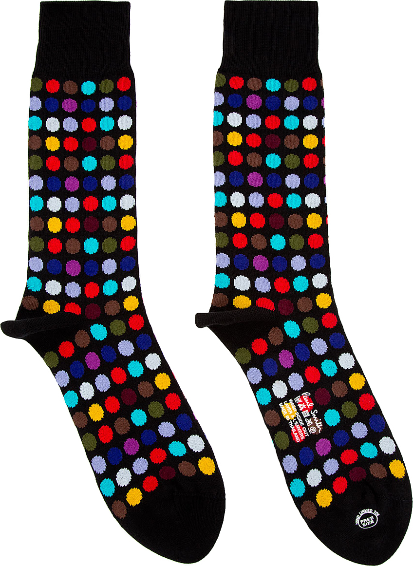 Mens Polka Dot Socks