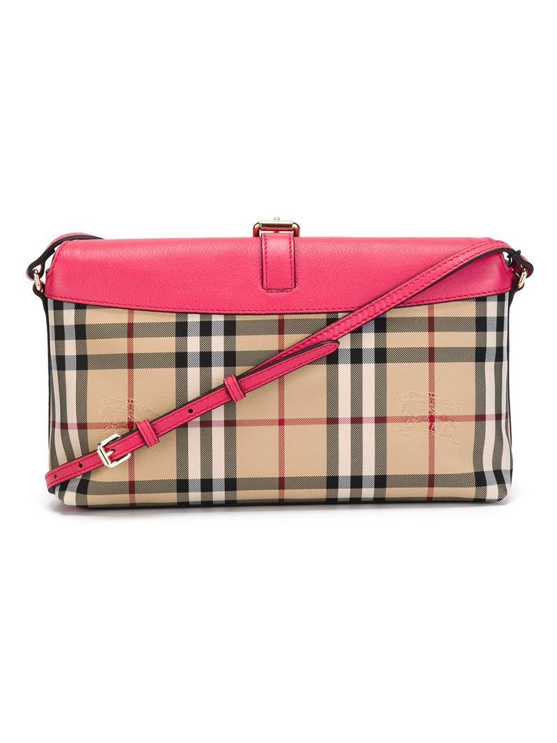 Burberry Small Horseferry-Check Cross-Body Bag
