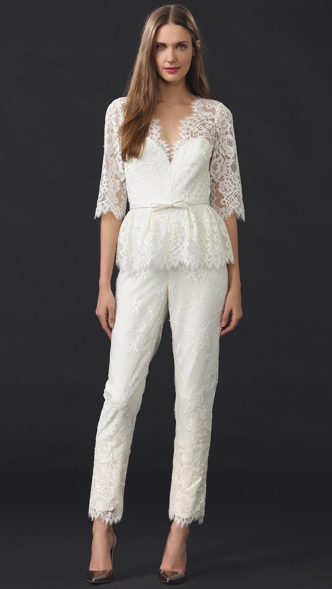 White Lace Jumpsuit Photo Album - Reikian