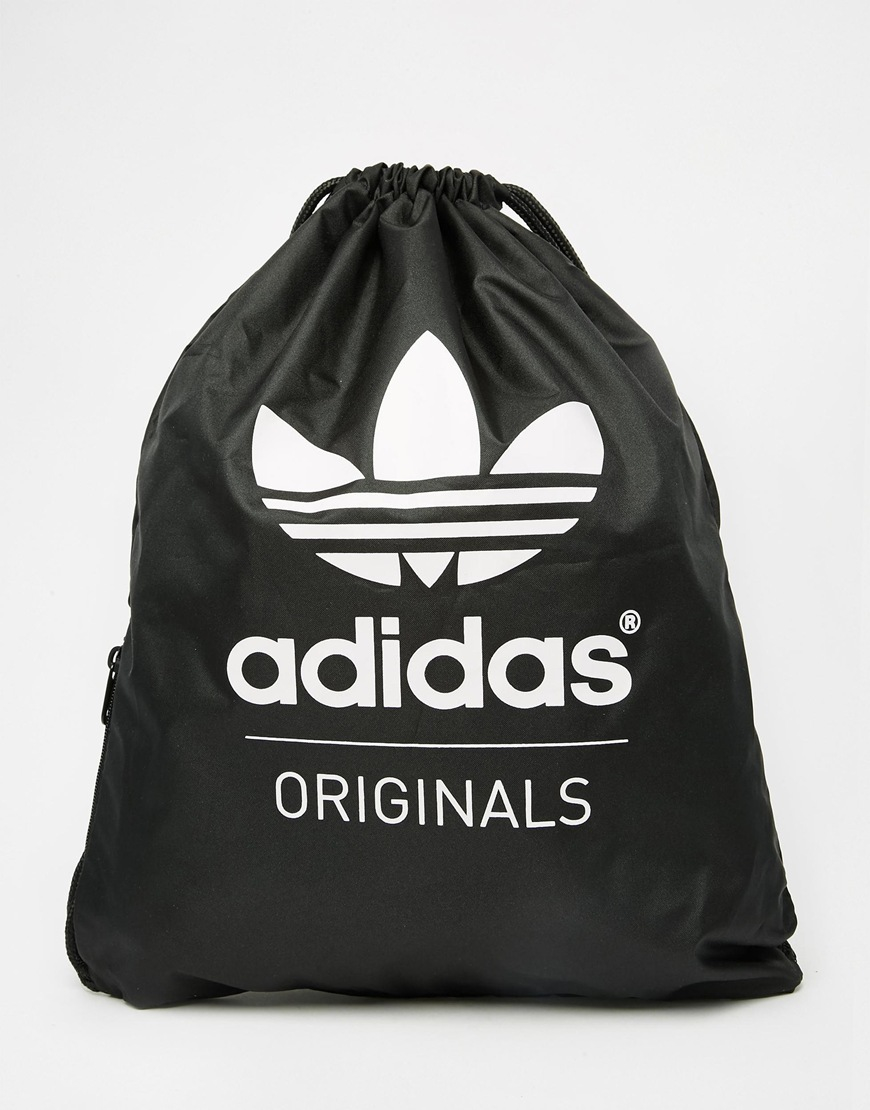 Adidas originals Drawstring Bag Ab2758 in Black for Men | Lyst