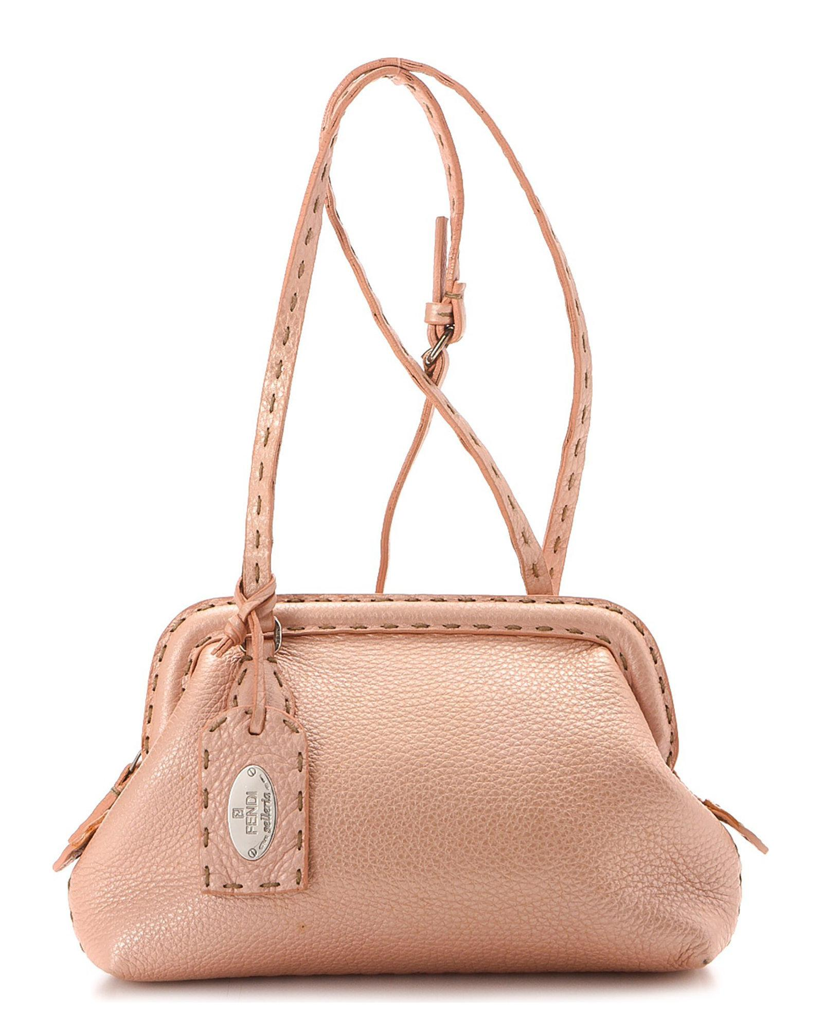 2a17a0c625 Lyst - Fendi Pink Leather Crossbody - Vintage in Pink