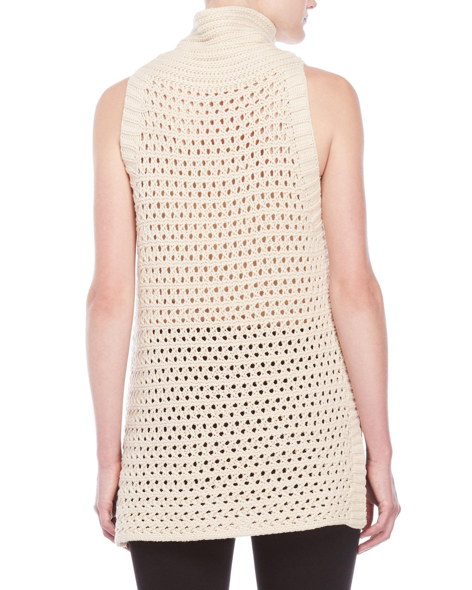 125c07ce8044a Lyst - Free People Northern Lights Sleeveless Turtleneck in White