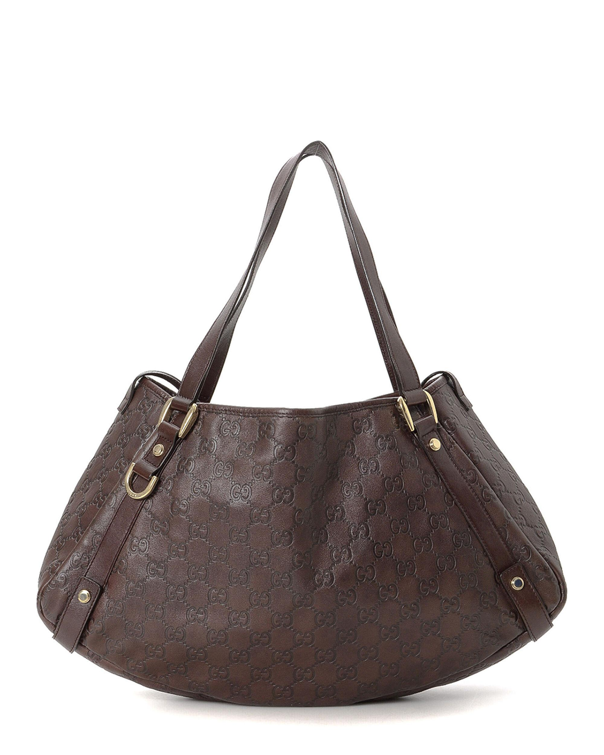 d43d4289d Gucci Leather Tote - Vintage in Brown - Lyst