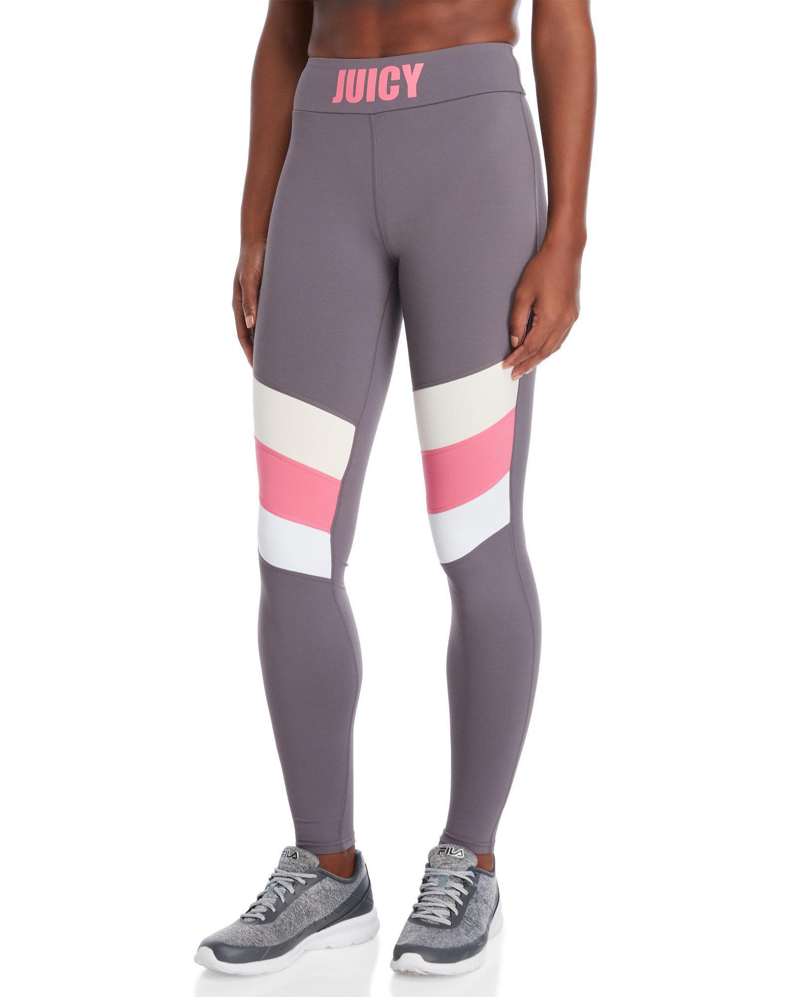 c22f95cc04fe0 Lyst - Juicy Couture Chevron Stripe Leggings in Gray